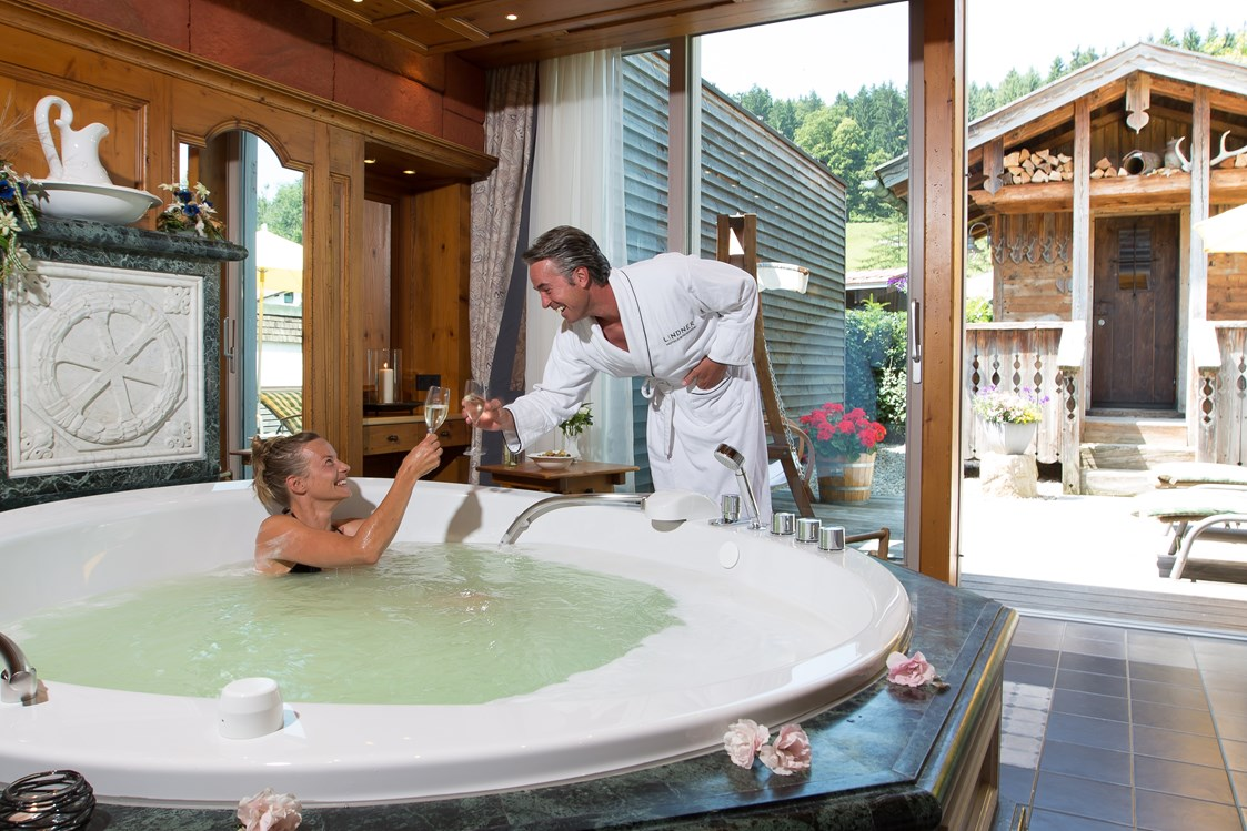 Mountainbikehotel: Private Spa Suite / Wellnessbereich  - Lindner Parkhotel & Spa